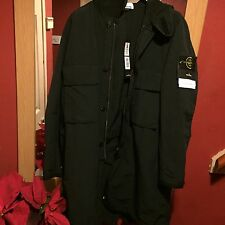 BNWT STONE ISLAND Black Shantung Mask Parka Jacket Coat Drake (Medium) RRP £749