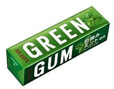 Lotte Japan. Green Gum. Chewing Gum. 9 stick pack. From Japan !!