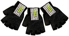 3 Pairs of Fingerless Magic Gloves Palm Grip Thermal Stretchy Acrylic One Size