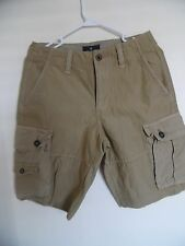 Mens Boys American Eagle  Beige  Classic Casual Cargo  Shorts Size 28
