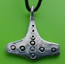 Viking Flekstad Mjölnir Thor's Hammer Pewter Pendant Necklace For Protection
