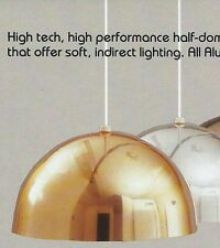 "EJS Ceiling HEMISPHERE 1-Light FIXTURE Polished Brass GOLD 12"" 150W NEW Aluminum"