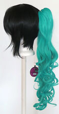 23'' Curly Pony Tail Clip Seafoam Green Blue Cosplay Wig Clip Only NEW