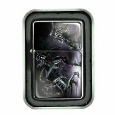 Windproof Oil Lighter with Gift Box Alien Design 08 Paranormal Martian