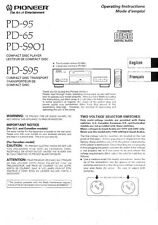 Pioneer PD-S901 CD Player Owners Manual