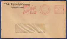 1940 METERED COVER, UNITED ELECTRIC LIGHT COMPANY, SPRINGFIELD, MA