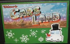Disney Cars Land Christmas Card with Snow Car Pin Sold Out