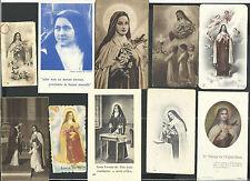 10 Estampas antiguas de Santa Teresita del Niño Jesus santino holy card santini