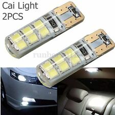 2x T10 W5W 2W 2835 SMD 12 LED Car Canbus Error Free Llights Bulb Lamp White 12V