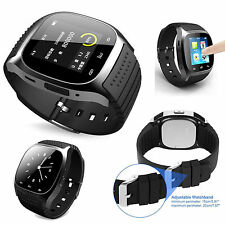 Black Smart Wirst Watch Phone Mate For Android Samsung HTC Wearable smartwatches