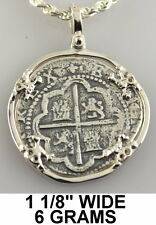 Atocha Pendant Skull Silver Mel Fisher 1985 Pirate Spanish Coin Shipwreck