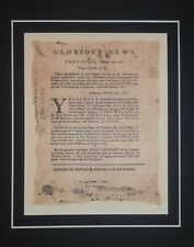 End Revolutionary War Cornwallis Surrenders Document Matted