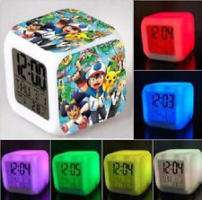 NEW! Pokemon Figures 7 Color Changing LED Night Light Alarm Clock Watch Toy Gift