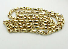 """96.6 grams SOLID 14k Yellow Gold Fancy Style Chain Necklace 28.5"""" long HEAVY"""