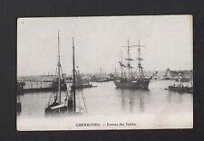 CHERBOURG (50) Remorquage d'un BATEAU VOILIER 3 MATS début 1900