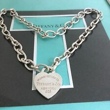 "New Tiffany & Co. Clasping Linking Chain Necklace  18"" Long End Links Open Close"