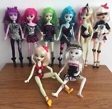 Dracula & Bratzilla Bratz Dolls - Bundle Of 8 Monster Dolls With Clothes & Shoes