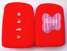 RED SILICONE SMART CAR KEY COVER CASE for TOYOTA PRIUS CAMRY AVALON RAV4 COROLLA