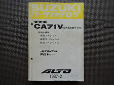 JDM SUZUKI ALTO CA71V Original Genuine Parts List Catalog Japanese Kei Car