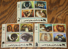 United Nations 2007 Endangered Species Blocks All 3 Offices L#569