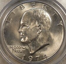 1974-D Eisenhower Dollar Pcgs Ms65 Purchased late 90's