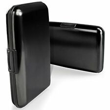 RFID Blocking Credit Card ID Protector Wallet Holder Case Black Theft Protection