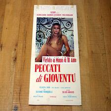 PECCATI DI GIOVENTù locandina poster affiche Gloria Guida Erotico Erotic