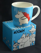 MOOMINS MUG  MOOMIN CUP WITH BOX. STYLE: ' TRAVEL WITH BACKPACK' RARE LIMITED