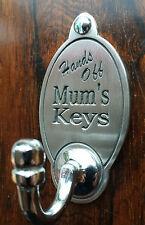 Mum's Keys Key Hook (EXCLUSIVE DESIGN) Engraved English Pewter