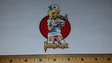 VTG HOOK UPS SKATEBOARD STICKER NOS SUPER SEXY NAUGHTY BLONDE NURSE BOOBS FETISH