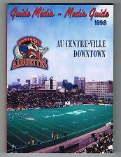1998 Montreal Alouettes CFL Canadian Football League Media GUIDE