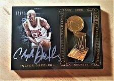 14/15 Panini National Treasures Clyde Drexler NBA Champions Auto #/49 Autograph