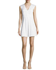 NEW French Connection Classic Richie Capri Pleated Dress Optic White Size 6 $178