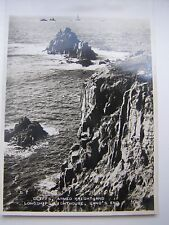 Land's End Cliffs, Armed Knight & Longships Lighthouse postcard