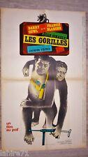 LES GORILLES  ! darry cowl  affiche cinema  1964 60x80cm