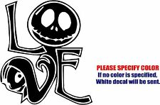 Vinyl Decal Sticker - Nightmare Jack Skeleton Sally Skull #04 Car Truck Fun 6""