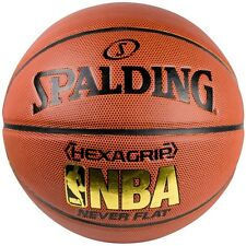 Spalding NBA Hexagrip Never Flat Composite Leather Basketball [Size 7]