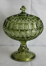 Green Large Glass Candy Dish Decorative Glass Bowl With Lid