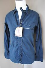 NWT MR FREEDOM Sugar Cane 645n Dark Indigo Selvedge Chambray Utility Shirt XS