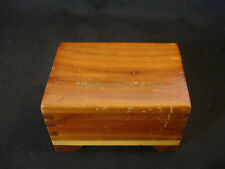 Old Vtg Collectible Wood Wooden Jewelry Trinket Box Shorall's Tea Room