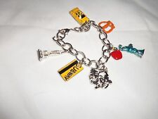 NEW YORK CITY CHARM BRACELET BIG APPLE TAXI NYC STATUE OF LIBERTY EMPIRE STATE