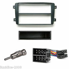MERCEDES BENZ CLK 2000 - 2004 BLACK DOUBLE DIN FASCIA FITTING PACKAGE KIT