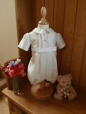 BOYS CHRISTENING GOWN SUIT ROMPER OUTFIT DEDICATION NAMING WEDDING BAPTISM