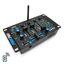 NEW Pyle PMX7BU Bluetooth 3-Channel DJ MP3 Mixer RCA  USB  MIC & Headphone Input