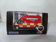 Oxford 76FT020 FT020 1/76 OO Ford Transit Van LWB High West Sussex Fire Brigade