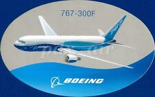 BOEING 767-300F FREIGHTER CARGO JET AIRLINER LIVERY OVAL STICKER