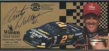 1995 RUSTY WALLACE #2 WINSTON POLE NIGHT POLE NIGHT # OF 25,000 TICKET!