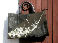 VINTAGE JAPANESE KIMONO HAND BAG HAND CREATED IN THAILAND WITH FREE SHIPPING !