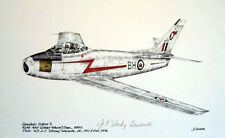 Canadair Sabre Mk 2 RCAF F-86 Jet NATO Stocky Edwards Signed Aviation Art