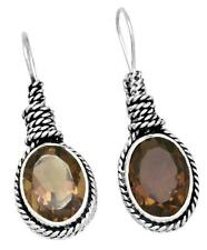 Natural Smokey Quartz Earrings Solid 925 Sterling Silver Jewelry IE21780